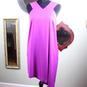 Fuchsia Asymmetrical Dress